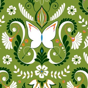 Butterfly Damask - Limited Palette Colors