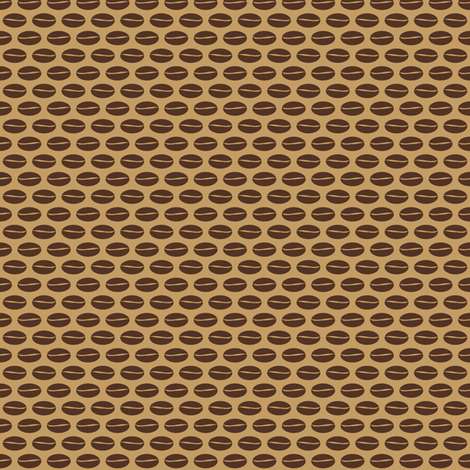 Bean - coffee fabric by inscribed_here on Spoonflower - custom fabric