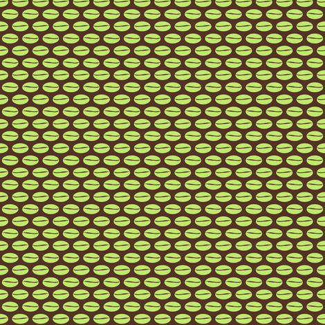 Bean - green fabric by inscribed_here on Spoonflower - custom fabric