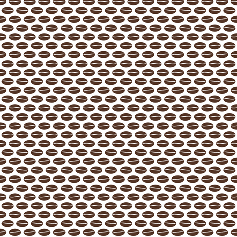 Bean - white fabric by inscribed_here on Spoonflower - custom fabric