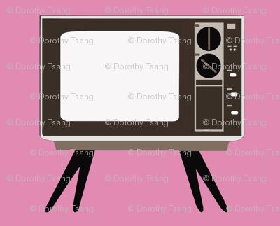 Retro TV- Pink Background