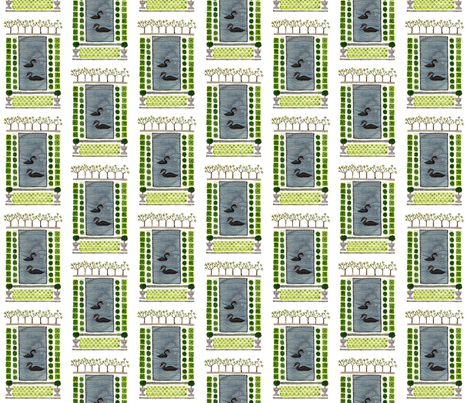 Knot Garden No. 4 - Topiary Collection fabric by gollybard on Spoonflower - custom fabric