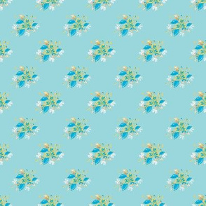 Roses in blue and yellow