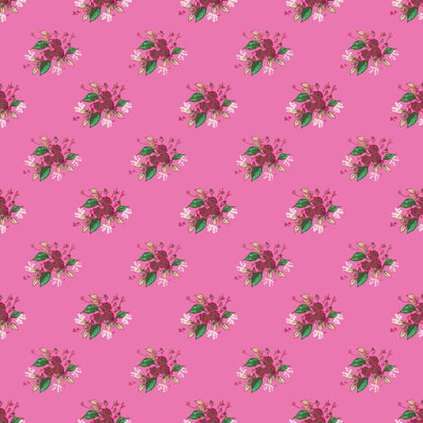 Roses in deep pink fabric by joanmclemore on Spoonflower - custom fabric