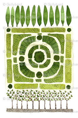 Knot Garden No. 1 - Topiary Collection