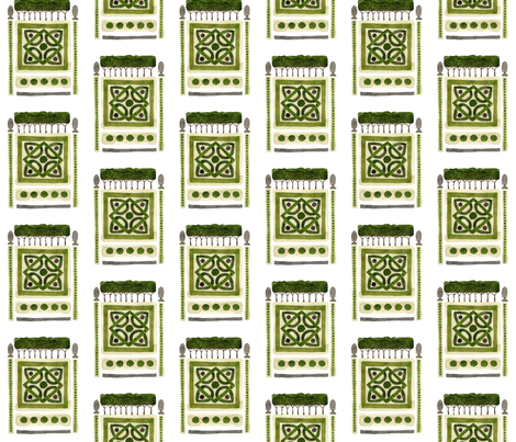 Knot Garden No. 2 - Topiary Collection fabric by gollybard on Spoonflower - custom fabric