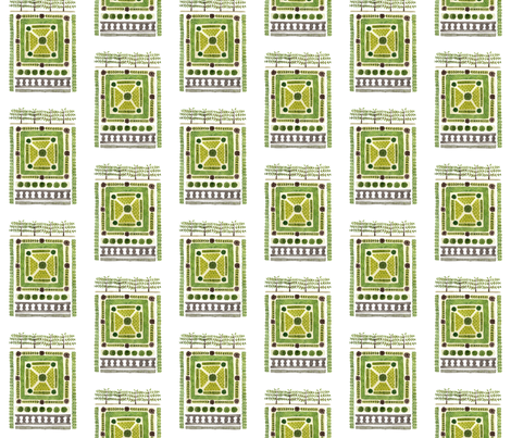Knot Garden No. 3 - Topiary Collection fabric by gollybard on Spoonflower - custom fabric