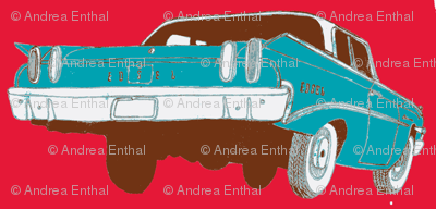 psychedelic 1960 Edsel Ranger 2 door sedan