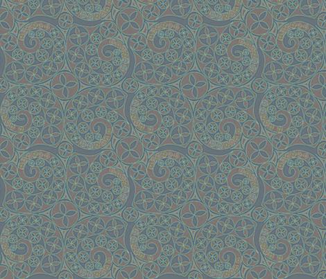 © 2011 Deepish Bluets fabric by glimmericks on Spoonflower - custom fabric