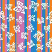 Retro Butterfly Stripes