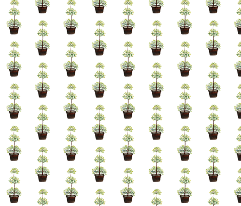 Triple Ball Myrtle -  Topiary Collection fabric by gollybard on Spoonflower - custom fabric