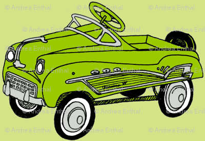 1950's Bright Green Child's Pedal Car