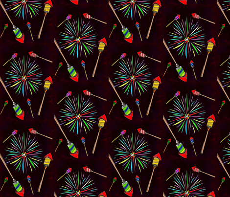 rockets and fireworks fabric by kaito_kun92 on Spoonflower - custom fabric