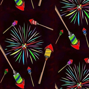 rockets and fireworks