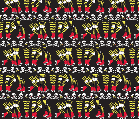 Derby Legs Black the Killer Beesocks! fabric by beesocks on Spoonflower - custom fabric