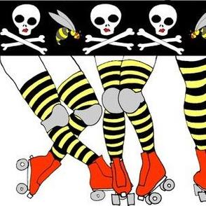 Derby Legs White the Killer Beesocks!
