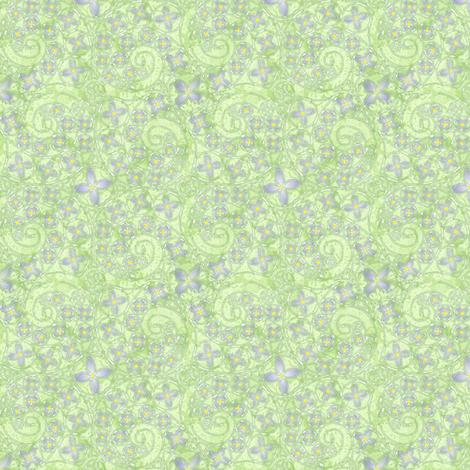 © 2011 My Bluet Heaven fabric by glimmericks on Spoonflower - custom fabric