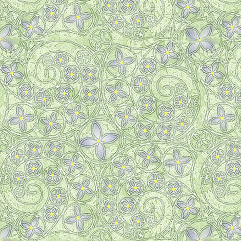 © 2011 Sketchy Bluets fabric by glimmericks on Spoonflower - custom fabric