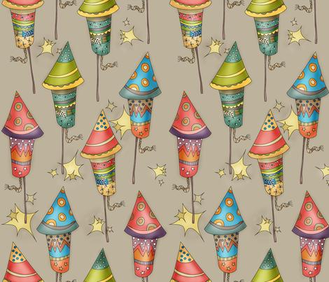 Brand New Fireworks fabric by catru on Spoonflower - custom fabric