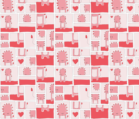 Red Lion fabric by ankepanke on Spoonflower - custom fabric