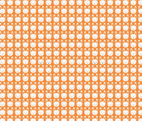 Bunny fabric by ankepanke on Spoonflower - custom fabric
