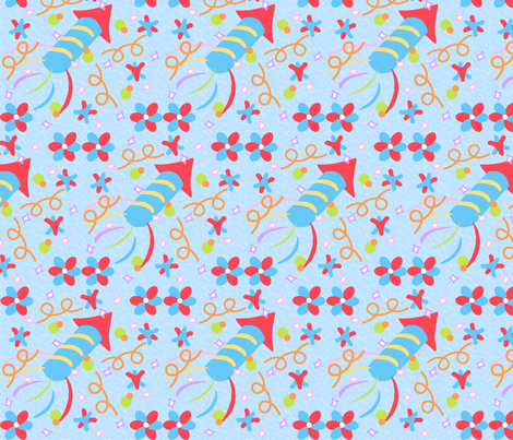 rockets, and pinwheels, and stars...oh my! fabric by minniemeatdaydreamstudio on Spoonflower - custom fabric