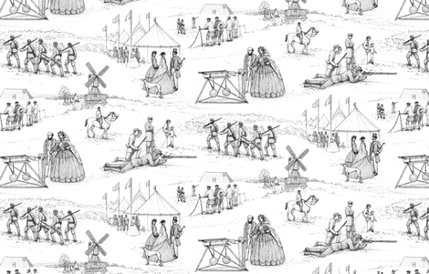 Wimbledon Rifle Shooting Competition 1860 ©2011 by Jane Walker fabric by artbyjanewalker on Spoonflower - custom fabric