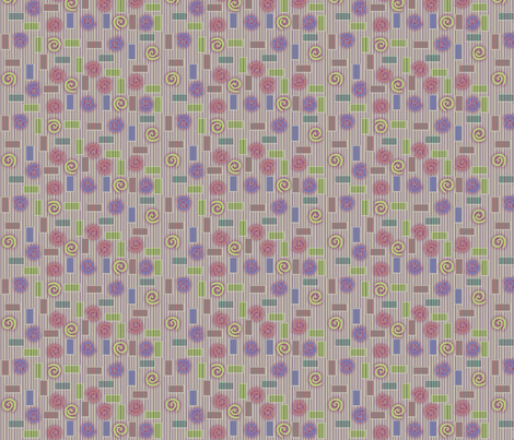 © 2011 Blocks and Swirls fabric by glimmericks on Spoonflower - custom fabric