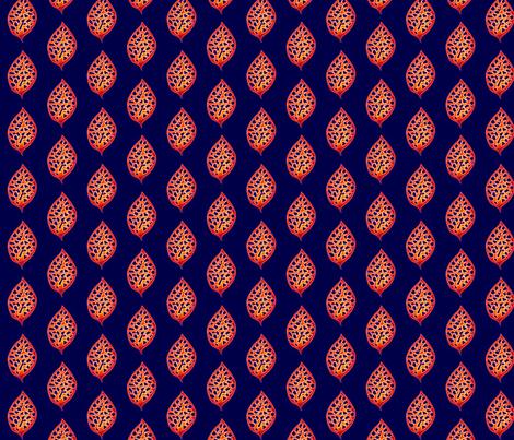 © 2011 Fire Leaf fabric by glimmericks on Spoonflower - custom fabric