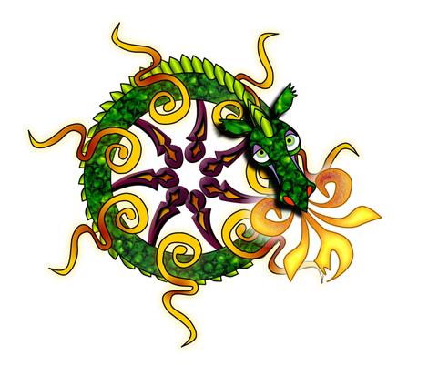 © 2011 Dragon for FQ fabric by glimmericks on Spoonflower - custom fabric