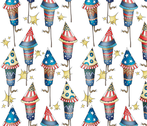 Happy 4th! fabric by catru on Spoonflower - custom fabric