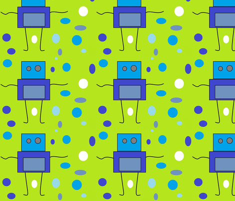 robots-ed fabric by aydreeonuh on Spoonflower - custom fabric