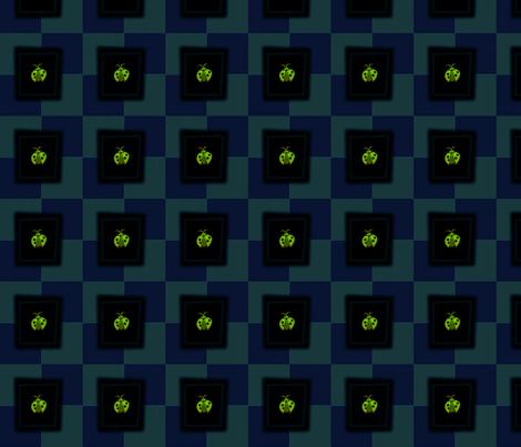 © 2011 Ladybug Green fabric by glimmericks on Spoonflower - custom fabric