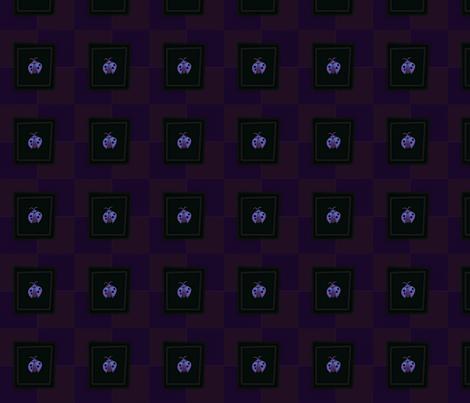 © 2011 Ladybug Purple fabric by glimmericks on Spoonflower - custom fabric