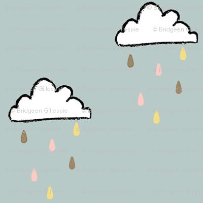 Tiny sprinkle clouds