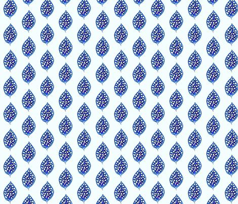 © 2011 Delft Leaf fabric by glimmericks on Spoonflower - custom fabric