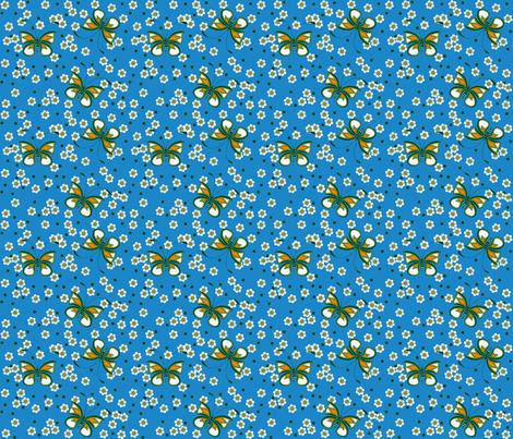 Butterfly_blue fabric by adranre on Spoonflower - custom fabric
