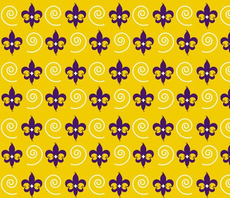 Purple-gold_FDL_swirls fabric by writefullysew on Spoonflower - custom fabric
