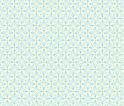 City of Derry Shamrock -blue fabric by cherryandcinnamon on Spoonflower - custom fabric