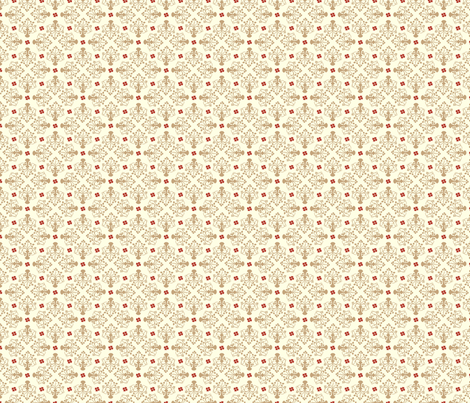 City of Derry Shamrock small neutral & red fabric by cherryandcinnamon on Spoonflower - custom fabric