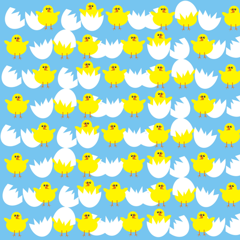 chicks fabric by valcheck on Spoonflower - custom fabric