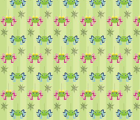 Spiders fabric by writefullysew on Spoonflower - custom fabric