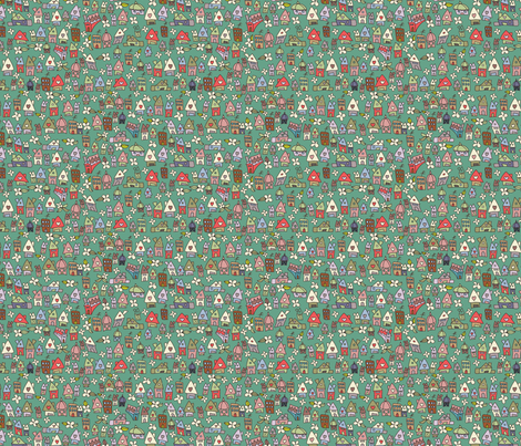 Eco Houses fabric by catru on Spoonflower - custom fabric