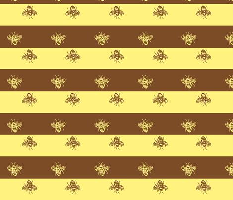 a little buzzed ©2011 Jill Bull fabric by palmrowprints on Spoonflower - custom fabric