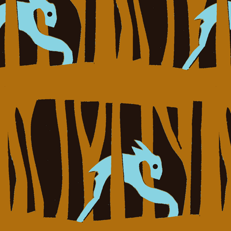 Galloping through the Forest fabric by boris_thumbkin on Spoonflower - custom fabric
