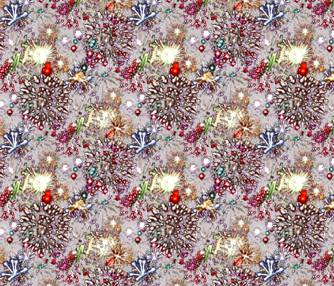 Jackson Pollock's 4th of July fabric by rayne on Spoonflower - custom fabric