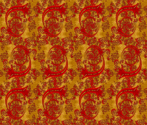 Art Noveau Cherry Swirls fabric by eclectic_house on Spoonflower - custom fabric