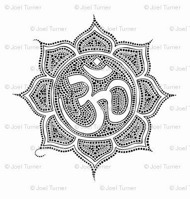 Lotus Flower With Om