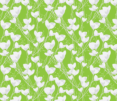 Primrose Green Background fabric by joanmclemore on Spoonflower - custom fabric