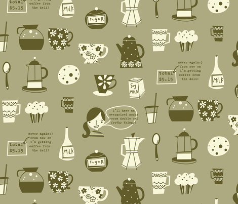 cafe au lait ecru fabric by amel24 on Spoonflower - custom fabric